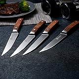 PAUDIN Steakmesser Set 4-teilig, hochwertige scharfe Messer Wellenschliff Steakmesser aus deutschem rostfreiem Edelstahl mit Ergonomischem Griff - 5