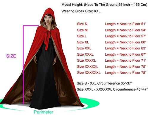 dressvip Satin à capuche en velours rouge casquette pour femme mariage Multicolore - Red Blue