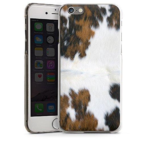Apple iPhone 5s Housse Outdoor Étui militaire Coque Peau de vache Vache Look CasDur transparent
