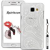 Coque Samsung A3 (2016), SpiritSun Étui Rigide Clair Transparente pour Samsung Galaxy A3 (2016) SM-A310 Housse Ultra Mince PC Dur Couverture Arrière + Stylet - Paisley