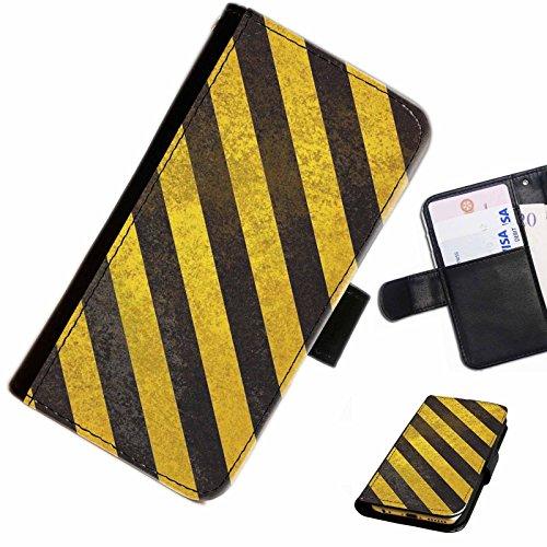 Hairyworm - Achtung Samsung Galaxy S7710 Xcover 2 (GT-S7710L) Leder Klapphülle Etui Handy Tasche, Deckel mit Kartenfächern, Geldscheinfach und Magnetverschluss.