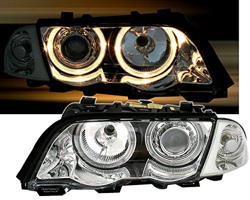 Preisvergleich Produktbild AD Tuning GmbH & Co. KG 960552 Angel Eyes Fernscheinwerfer Set,  Klarglas Chrom