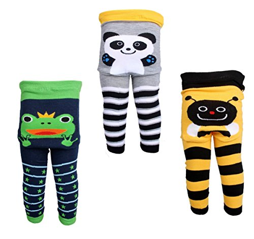[Backbuy] 3 Pants 0-24 Months Baby Boys Toddler Leggings trousers Knitted pants K3K4K5 (0-12 Months)