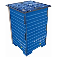 Preisvergleich für Werkhaus - Photo-Hocker in Container-Optik, Blau, 42x29,5x29,5cm (CO1041)