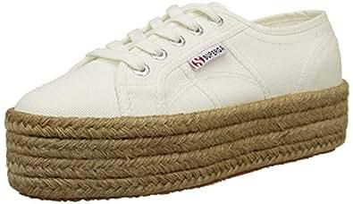 Superga Unisex Adults 2790 Cotropew Espadrille Shoes, White (White), 2.5 UK 35 EU