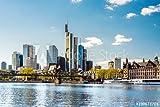 Poster-Bild 120 x 80 cm:Skyline von Frankfurt am Main im