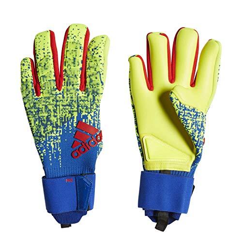 adidas Pred Pro Torwarthandschuhe, Unisex, Erwachsene, Unisex-Erwachsene, DN8581, Gelb/Rot/Blau (solar Yellow/Bold Blue/Active red), -10