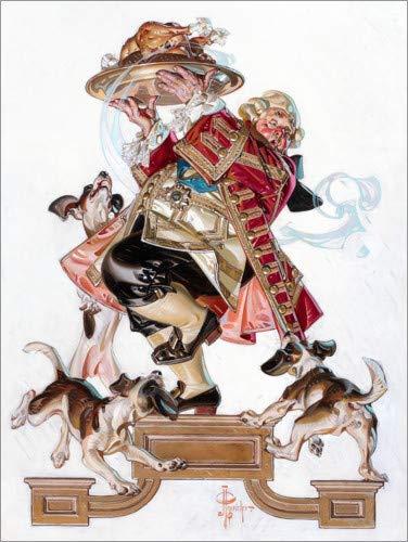 Posterlounge Leinwandbild 30 x 40 cm: Den Truthahn hereinbringen von Joseph Christian Leyendecker - fertiges Wandbild, Bild auf Keilrahmen, Fertigbild auf echter Leinwand, Leinwanddruck (Joseph Kostüm Männer)