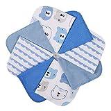 Baby Musselin Waschlappen Baumwolle 8er Set - 25x25 cm - Momcozy Baby Handtücher, Ultra-weich, Super Absorbierende Handtücher | Schonend auf Empfindliche Haut für Säuglinge, Kleinkinder, Erwachsene