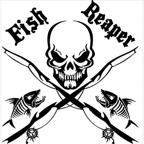 Fisch Reaper Schädel Mit Angelrute Wandaufkleber Vintage Poster Wohnkultur Wohnzimmer Aufkleber 50x53 cm