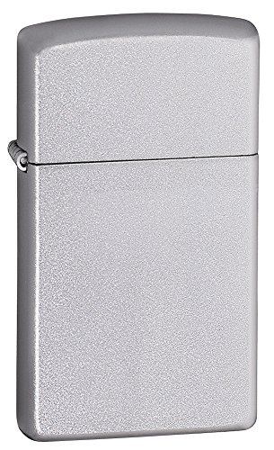Zippo Feuerzeug 60001179 Satin Finish Slim Benzinfeuerzeug, Messing -