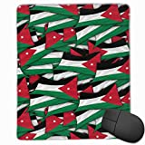 Mouse Pad Jordan Flag Wave Collage Non-Slip Rubber Gaming Mouse Pad Mat