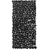 com-four® Rutschfeste Badewannenmatte mit Saugnäpfen, Anti-Rutsch-Matte ALS Badewannen-Einlage in Stein-Optik, 71 x 35,5 cm (01 Stück - schwarz)