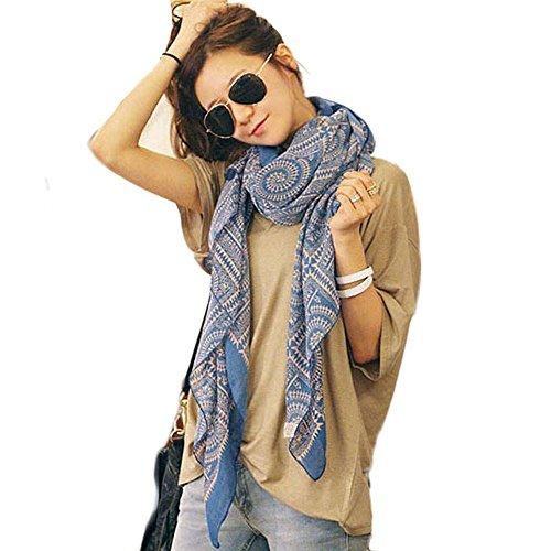 Tefamore Bufanda Mujer Chal De Moda De Patrón De Retro