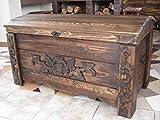 Massive handgemachte Holzkiste Truhe Box Holz Aufbewahrung Antik Dekoration MON1