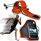 (orange + Ear Phone 137 x 69) vkworld F1 Fall Spannbettlaken Sports Armbinden Running Bike Radfahren Fitnessstudio Joggen befreit Arm Band Case Cover mit Case in Ear Buds Stereo-Hände Kopfhörer Headset Mikrofon und On-Off-Button Ausgestattet von i-tronixs