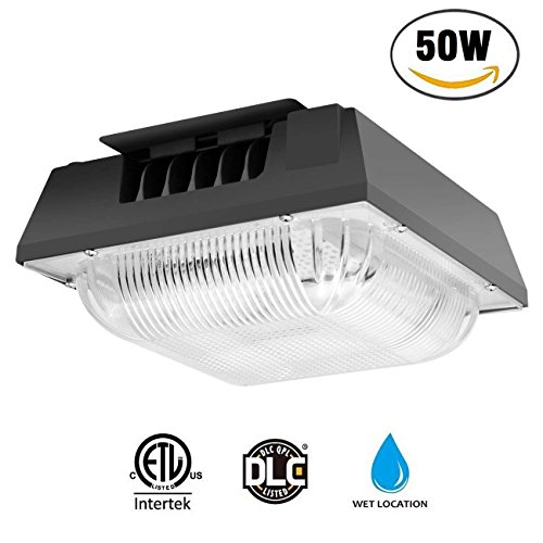 Cinoton 50W LED Canopy Lights,8300LM 5000k,175W-500W Hps/HID Replacement,Waterproof LED Security Lights for Playground, Warehouse, Garage, Pool, Backyard,Office,Commercial Lighting