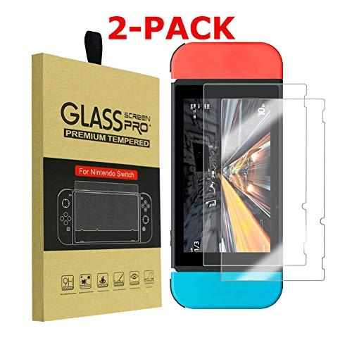 Shentesel Displayschutzfolie aus gehärtetem Glas, 9H für Nintendo Switch, 2 Stück - Glas-regal-hardware