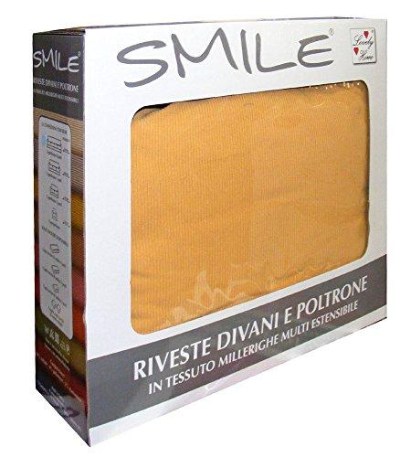 COPRIPOLTRONA 1 POSTO SMILE LOVELY HOME FINO A 100CM (giallo)