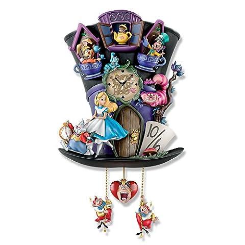 Disney Alice In Wonderland Handcrafted Hat-Shaped 'Mad Hatter' Cuckoo Clock