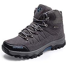 Zapatos de Excursionismo para Hombres Calientes Botas de Invierno para el  Invierno Piel de Ante de ffba2c2b55b7a