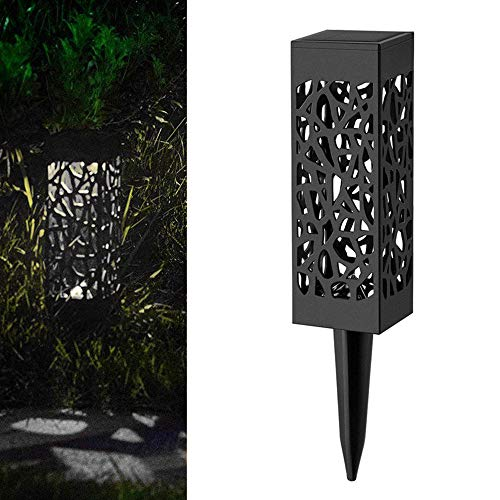 Linterna De Luz Solar Led Linterna Luces De Pista Alimentadas Por Energía Solar Decorativa Lámpara De Jardín Para Jardín Patio Luz Blanca 31 Cm