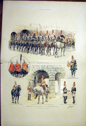 Guardie di Cavallo Cambianti di Whitehall Londra della Guardia 1903