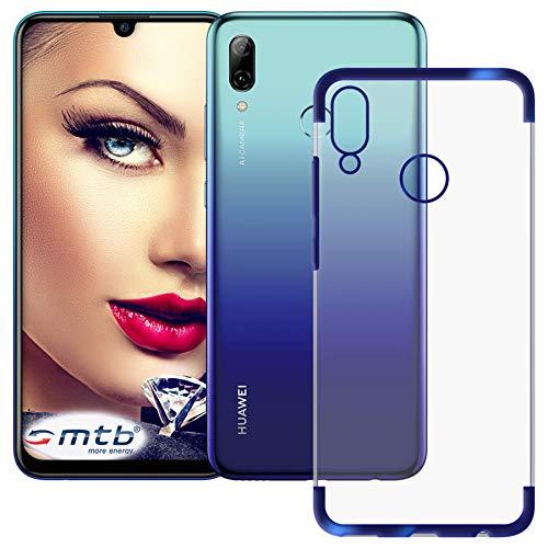 mtb more energy® Schutz-Hülle Elegance für Huawei P smart 2019   Honor 10 Lite (6.21'')   blau   flexibel   TPU Frame Rahmen Case Cover Tasche Pot Metal Plating