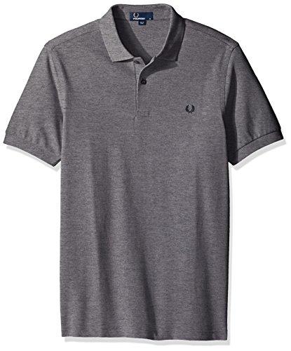 Fred Perry Herren Poloshirt Plain Grigio (Steel Marl)