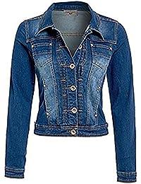 SS7 New Womens Denim Jacket Mid Wash Blue Size S - XXL