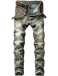 511711a3a5373 Dihope Homme Vintage Rétro Jeans Pantalon de Travail Militaire Cargo Pants  Casual Trousers en Denim sans