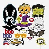 Pixnor - 23 piezas de máscara de jardín para Halloween, decoración...