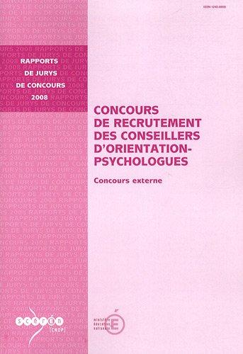 Concours de recrutement des conseillers d'orientation-psychologues : Concours externe