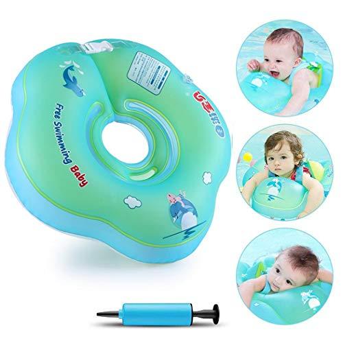 Yukio SommerFun - Baby Schwimmen Ring Baby Schwimmhilfe Kinder Schwimmring Aufblasbarer Einstellbare Life Boje Schwimmtrainer für Baby (L)