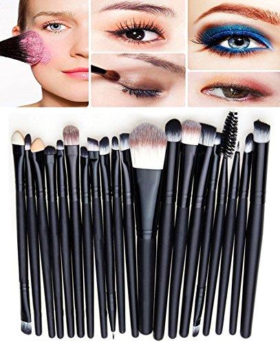 Demarkt Professionnel 20pcs Pinceaux de Maquillage pour les Ombre à Paupières Eyeliner Lip Fondation Sourcils Pinceau Maquillage Pinceaux Set