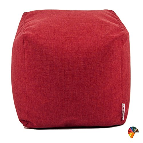Arketicom soft cube pouf sacco poggiapiedi sfoderabile 42 rosso