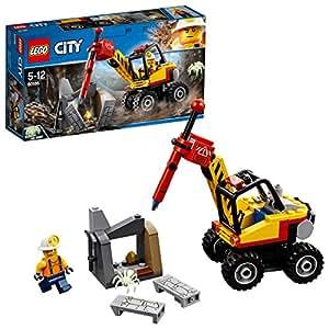 Lego City - L'excavatrice Marteau-piqueur - 60185 - Jeu de Construction