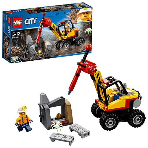Lego Berg (LEGO City 60185 - Bergbauprofis Power-Spalter, Konstruktionsspielzeug)