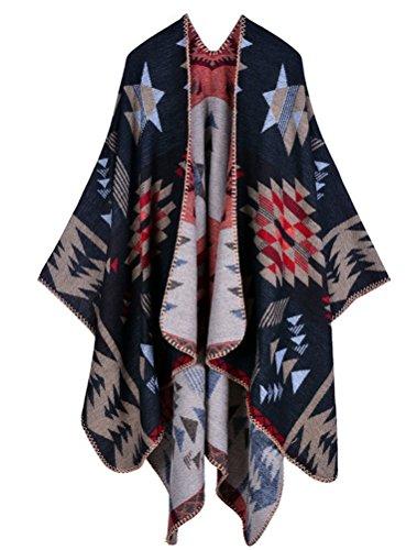 MatchLife Femme Automne longue écharpe Wrap Shawl Art5