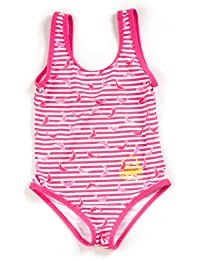 Surfit Girl's Dolphin Striped Swimsuit UV50 Plus