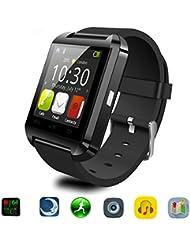 Bluetooth Smart Watch Uhr für Android & iOS Smartphones, Joymixx U8 Smartwatch Fitness Tracker Intelligente Armbanduhr mit Schrittzähler / Remote Fotografie / Stoppuhr für Herren Damen, Smart Gesundheit Armbanduhr für Apple iPhone 6 / 6S / 6Plus / 6S Plus / 5S / SE, Samsung Note3 / Note4 / Note5 / S7 / S6 / S5 / S4, Sony, HTC, Huawei