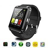 Bluetooth Smart Watch Uhr für Android & iOS Smartphones, Joymixx U8 Smartwatch Fitness Tracker Intelligente Armbanduhr mit Schrittzähler / Remote Fotografie / Stoppuhr für Herren Damen, Smart Gesundheit Armbanduhr für Apple iPhone 6 / 6S / 6Plus / 6S Plus / 5S / SE, Samsung Note3 / Note4 / Note5 / S7 / S6 / S5 / S4, Sony, HTC, Huawei (Schwarz)