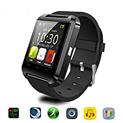 Bluetooth Smart Watch For Android & Ios Smartphones, Joymixx U8 Smartwatch Fitness Tracker Bracelet With Pedometermusic Playercall Reminderremote Camera For Men Women, Smart Health Wrist Watch For Apple Iphone 66s6plus6s Plus5sse, Samsung Note3note4note5s7s6s5s4, Sony, Huawei (Black)