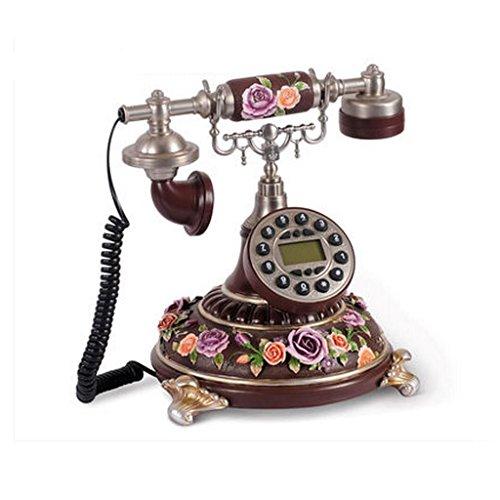 Liu Yu·casa creativo, creativo decorazione marrone scuro resina casa soggiorno di tre - rilievi tridimensionali rosa linguaggio retrò telefono fisso
