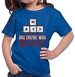 HARIZ  Mädchen T-Shirt WASD Das Einzige was Bewegt Gamer Gaming Pixel Nerd Geburtstag Plus Geschenkkarte Royal Blau 140/9-11 Jahre