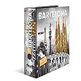 HERMA 7177cartone formato DIN A4, serie Città, design Spagna Barcelona, 70mm di larghezza, 1pezzi, con stampa interna