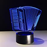 Best Divers Accordéons - LXZ 3D Accordéon Illusion d'optique Lampe USB LED Review