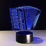 ZxTL 3D Fisarmonica Illusione ottica Lampada USB LED Luce di notte 7 Colore Cambiando Tocco Lampada da tavolo Decorazione Creativo Regalo