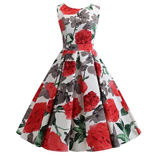 style_dress Robe Vintage AnnéEs 50 Pin Up Cerise, Robe De SoiréE Longue Manche Longue, Pull Robe, Patron Robe, Robe De SoiréE ImpriméE RéTro des AnnéEs 1950 pour Femme