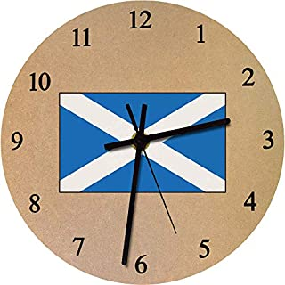 Azeeda 275mm 'Scottish Flag' Large Wooden Clock (CK00027607)